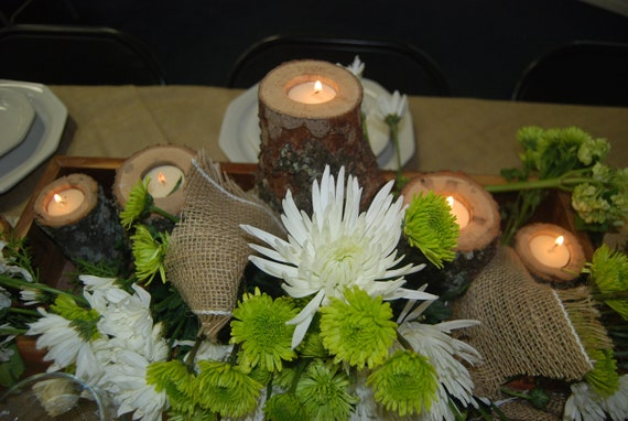Fresh And Exciting Ideas For Entering Your Wedding: Items Similar To Wedding Centerpiece Wood Slice, Tree