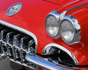 1958 Corvette, Red, 8x12 Fine Art Print, Chevrolet, Vette, Fuelie,