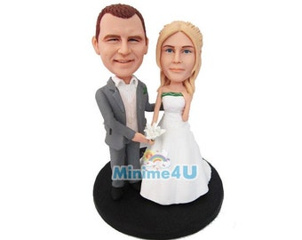 just married  custom handmade wedding cake topper  (Free Shipping Worldwide)