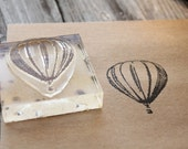 Hot Air Balloon Rubber Stamp - 2x2 Inches