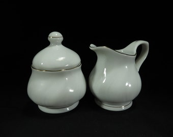 "Southington by Baum ""Blanco""  Sugar and Creamer Set"