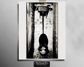 Victorian toilet,Traditional,Black and White,Old,alternative sizes,Creative art print