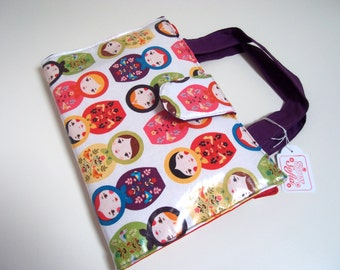 Art Caddy - Russian Dolls Organiser // Little Kukla // Travel Art Wallet // Wipe clean artist case