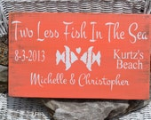 Beach Wedding Sign - Wedding Sign - Beach Decor - Beach Theme - Wedding Gift - Anniversary - Personalized - Customized - Painted Coral - CarovaBeachSignCo