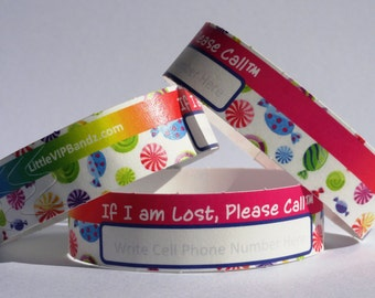 Kids Safety ID Wristbands - Sweet Shoppe 8/Pack