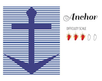 Anchor paper pieced quilt pattern in PDF