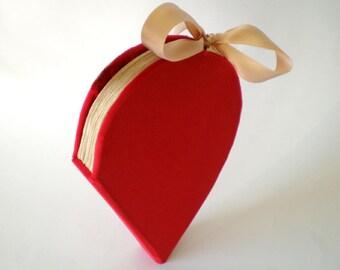 unique heart shaped guest book, bridal book, wedding album guestbook, custom wedding guestbook, alternative guestbook, red wedding guestbook