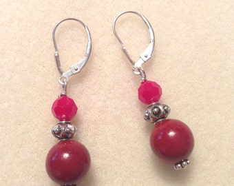 Multi-Red Colored Earrings