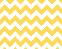 1/2 Yard Riley Blake Medium Yellow Chevron Fabric Cotton