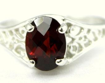 Mozambique Garnet, 925 Sterling Silver Ring, SR005