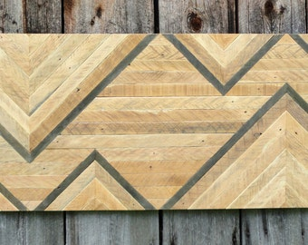 Reclaimed Wood Chevron Wall Hanging.