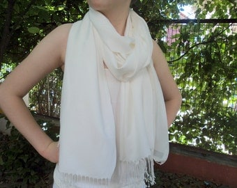 SOFT SCARF... Bridal ivory shawl. Ivory  scarf, scarves women, long scarf.