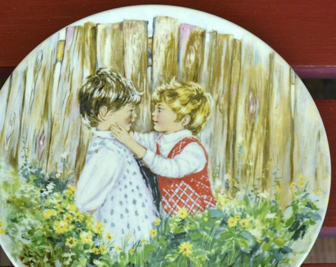 DEAL OF WEEK Collectible Wedgewood My Memories Plate Series Be My Friend 1981 Mary Vickers  Original Box PanchosPorch