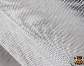"Poly Mesh Solid Fabric WHITE / 58"" Wide / Sold by the yard"