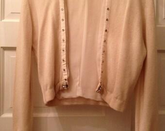 Vintage Cream Colored Cashmere Sweater
