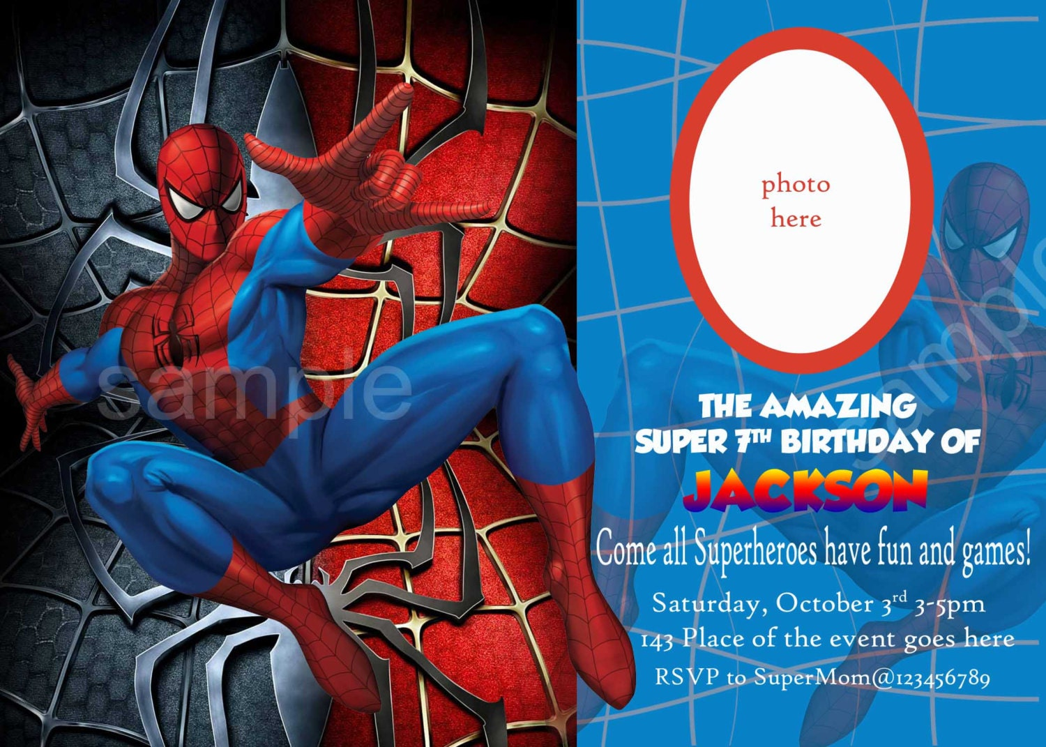 Spiderman Party Invitations was very inspiring ideas you may choose for invitation ideas