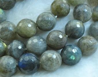Labradorite faceted Round beads 12mm,32 pcs