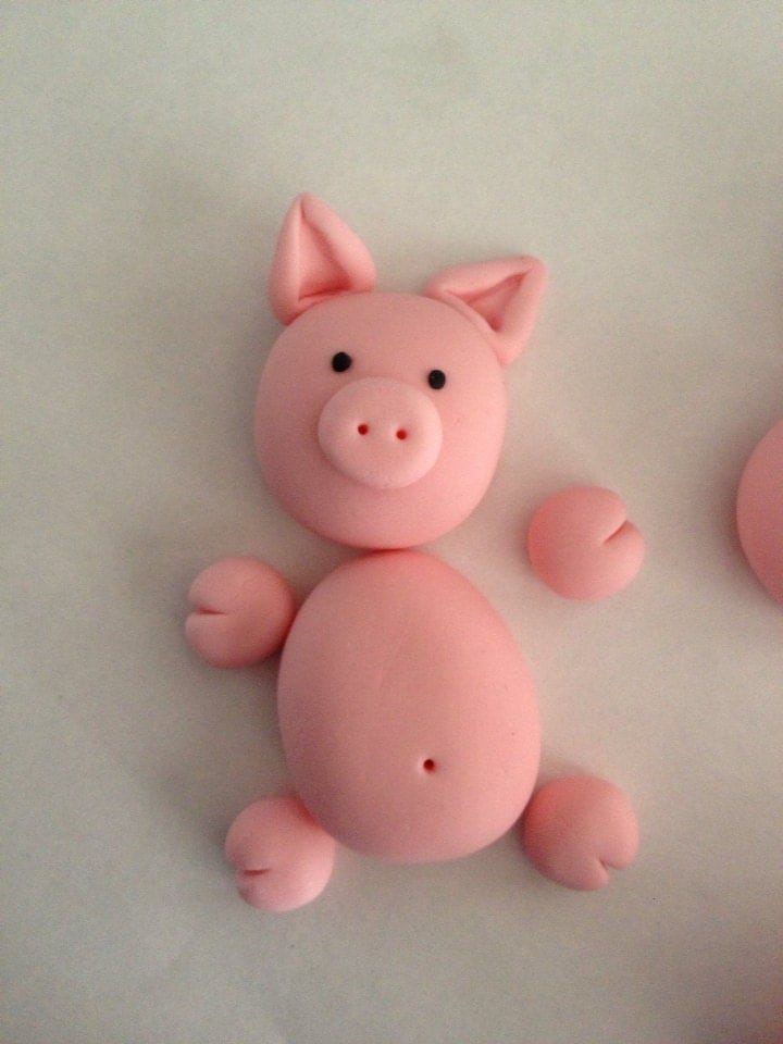 Edible Pig Cake Decorations