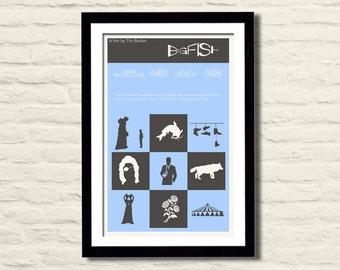 Big Fish Poster 11X17 - Art Print, Vintage, Minimal, Home Decor