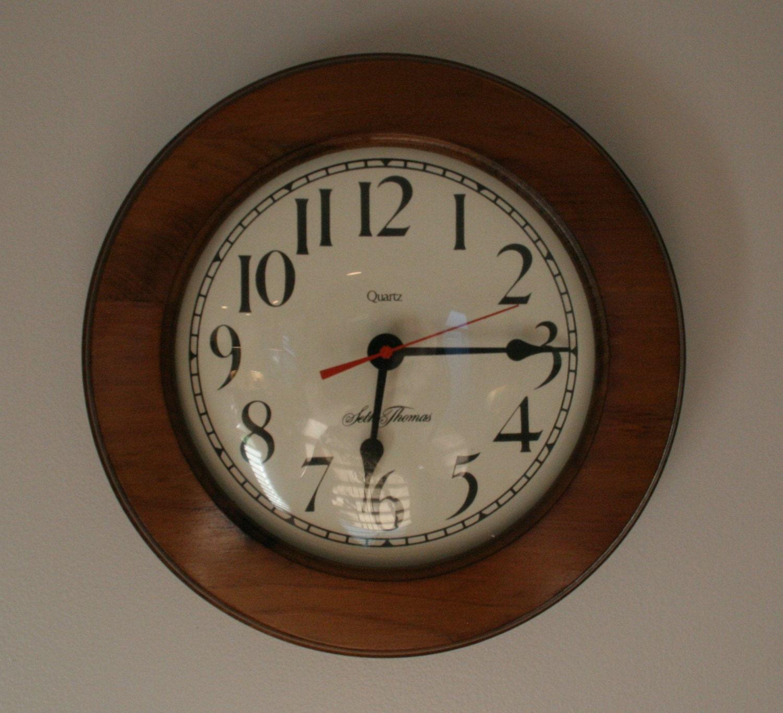 Seth Thomas Wall Clock 1981 Quartz Sugar Pine