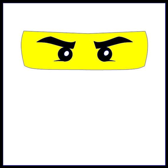 Adult Size Lego Inspired Ninjago Eyes Iron on Vinyl Design