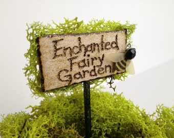 Fairy garden sign Etsy