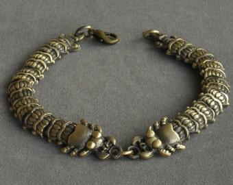 Cool Bronze Alloy Scolopendra Chilopoda Scolopendrid Bracelet EB2006