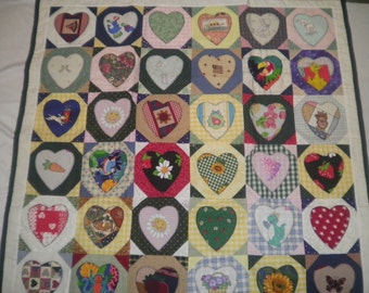 Baby or Toddler's Heart Picture Quilt