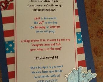 Dr. Seuss Invitation