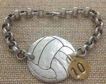 Volleyball Bracelet (Pewter)