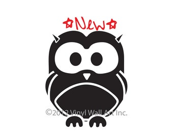 Woodland Owl Vinyl Wall Decal size LARGE