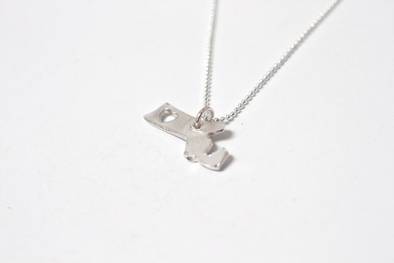 i heart Massachusetts State Necklace - Silver - Massachusetts Necklace Sterling Silver Massachusetts State Necklace With Heart Fine Silver