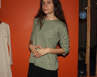 hemp clothing - long sleeve shirt - 100% hemp and organic cotton - custom made to order - hand dyed