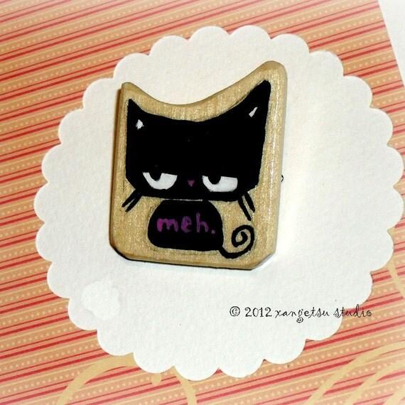 Handmade Cat Hair Barrette Kawaii Cute MEH cat