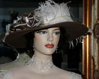 Kentucky Derby Hat Edwardian Hat Downton Abbey Hat - Lady My Sweet Lady