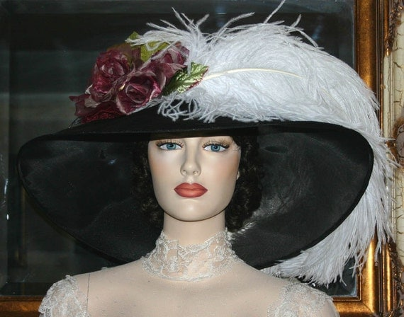 Victorian Style Hats, Bonnets, Caps, Patterns Kentucky Derby Hat Downton Abbey Hat Ascot Hat Titanic Hat Ascot Hat Run for the Roses