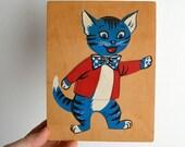 1960s wooden Cat puzzle