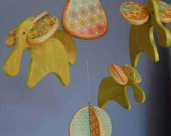 CUSTOM Baby Mobile - Modern Elephants - Choose Your Own Colors and Prints