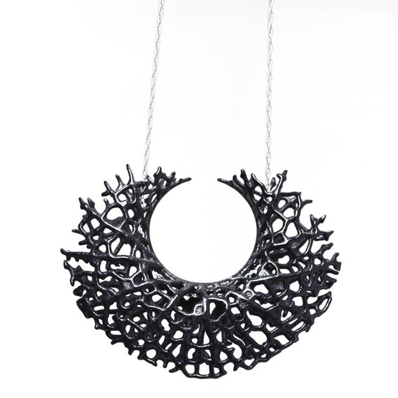 Vessel Pendant (black 3D printed nylon)