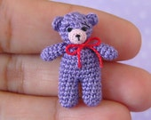 PDF PATTERN - Amigurumi Micro Crochet Tutorial Pattern Miniature Matchbox Bear