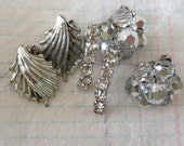 Vintage Jewelry Lot  Sparkly and Shiny Earring Lot Rhinestones