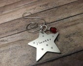 star-Christmas-Handstamped-personalized-christmas tree-ornament-family names-star