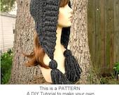 Instant Download Crochet Pattern - Hat Crochet Pattern - Womens Crochet Hat Pattern for Tassel Hat - Womens Accessories