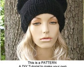 Instant Download Knitting Pattern - Knit Hat Pattern - Cat Hat Pattern - Womens Hat Pattern Cat Beanie Pattern - Womens Accessories