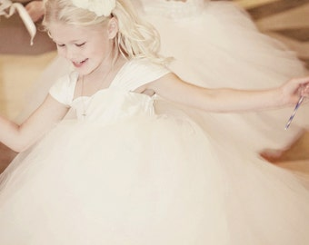 Silk Flower Girl Dress
