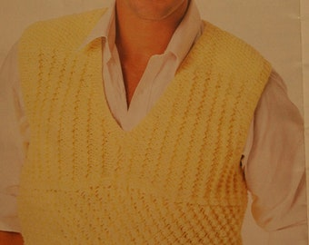 Knitting Patterns Sweaters Vests Knitting With Style 0441 Women Men Vintage Paper Original NOT a PDF