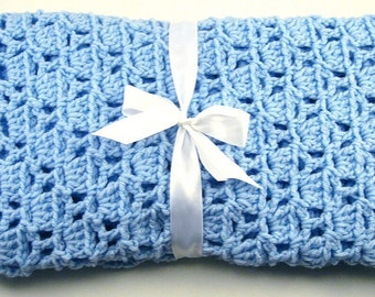 PDF Pattern Crocheted Baby Afghan, CAR SEAT Size and Newborn Size Blanket -- Baby Steps