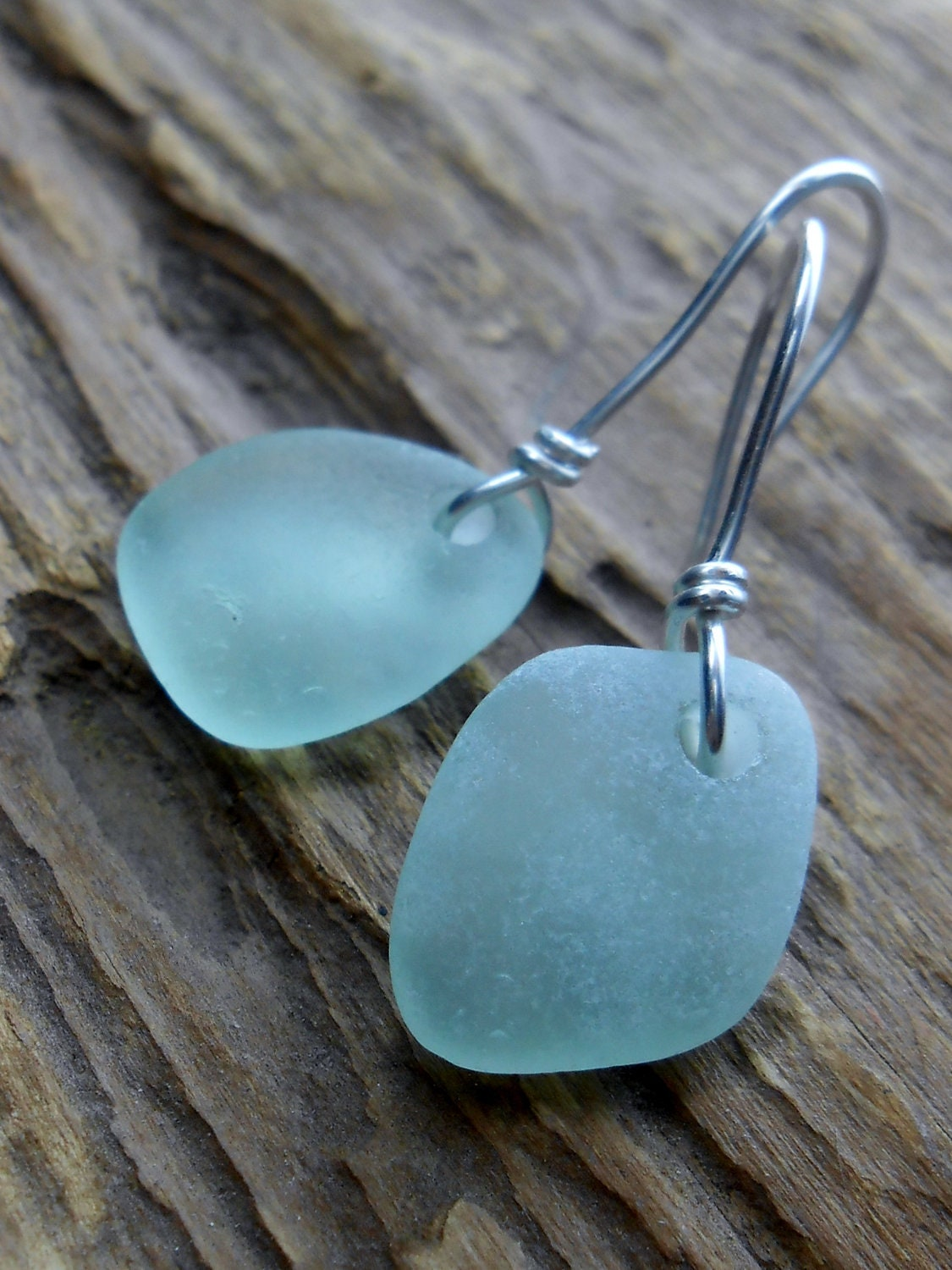 sea glass jewelry beach glass wedding earrings the