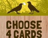 verschiedene Grußkarten / lustige Karten / 4 Wählen