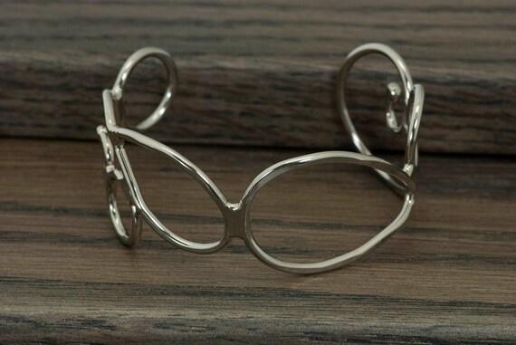 Metal bracelet, cuff bracelet, nickel silver